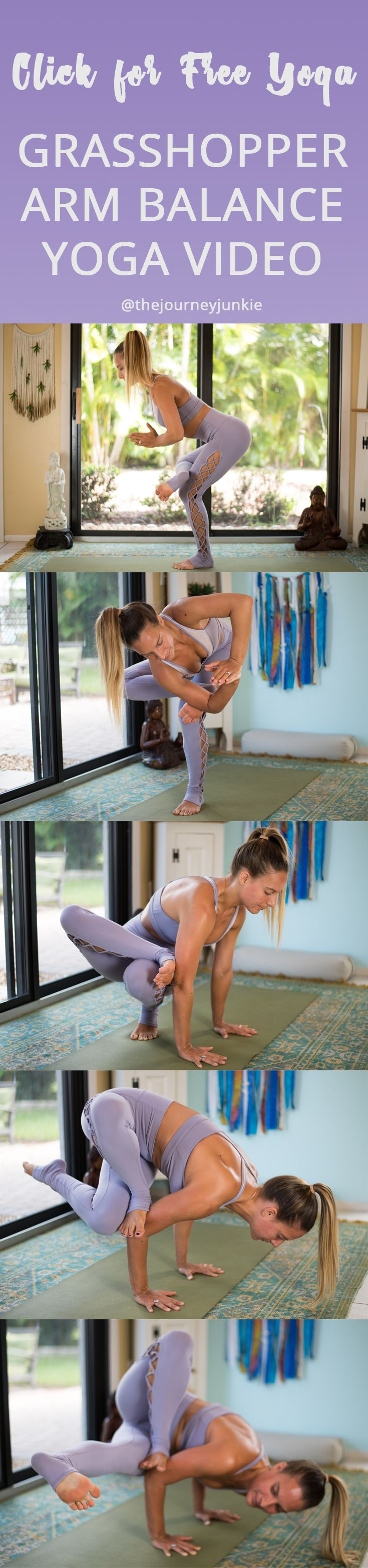 Grasshopper Yoga Pose Video: Twist + Hip Opener Flow - Pin now, unroll your mat now, learn grasshopper pose now!