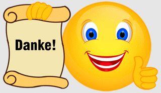 Smiley – Vielen Dank