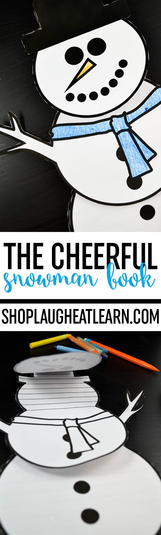 The Cheerful Snowman Book Writing Craftivity