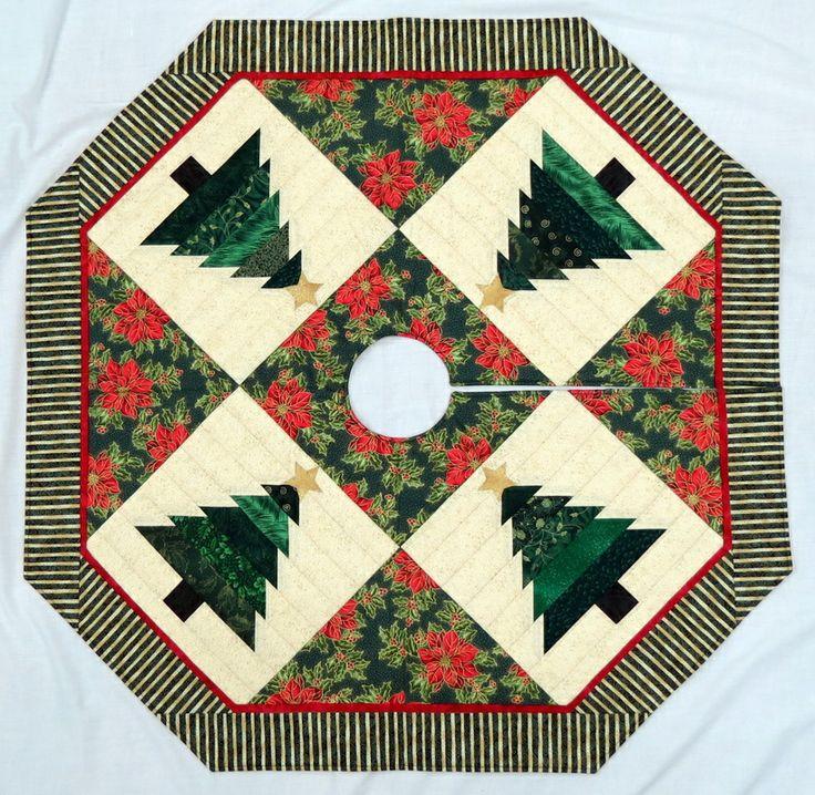 quilted+christmas+tree+skirt   Tree Skirt