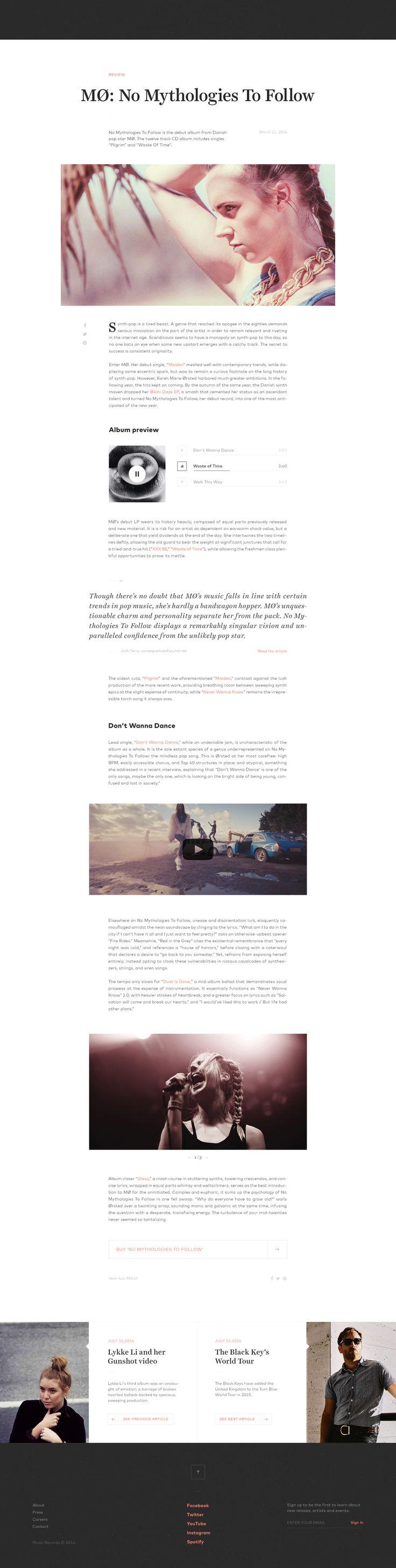 17 Best images about WEB design: article layout on Pinterest   Ui ...