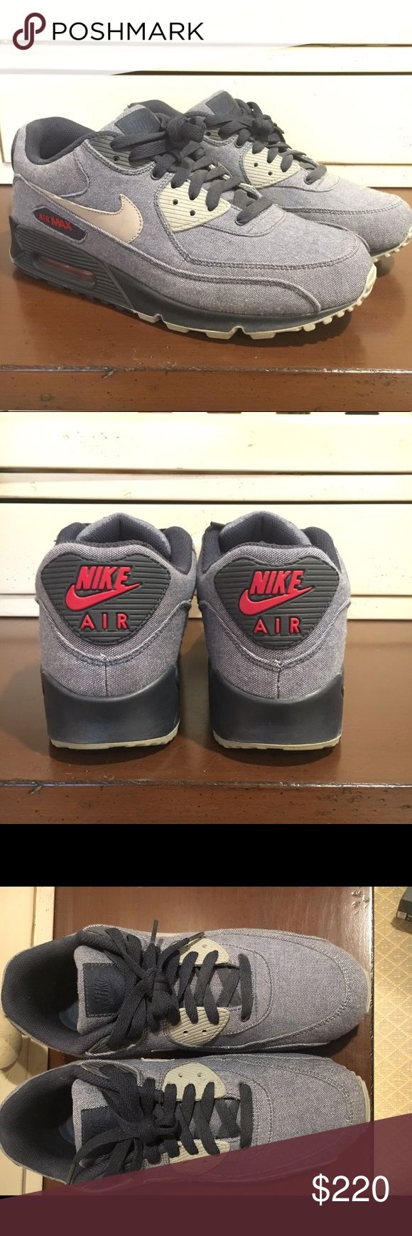 Nike air max 90 EU Demin QS Limited deadstock Limited edition, less than 1000 pairs, denim material, deadstock Nike Shoes Sneakers