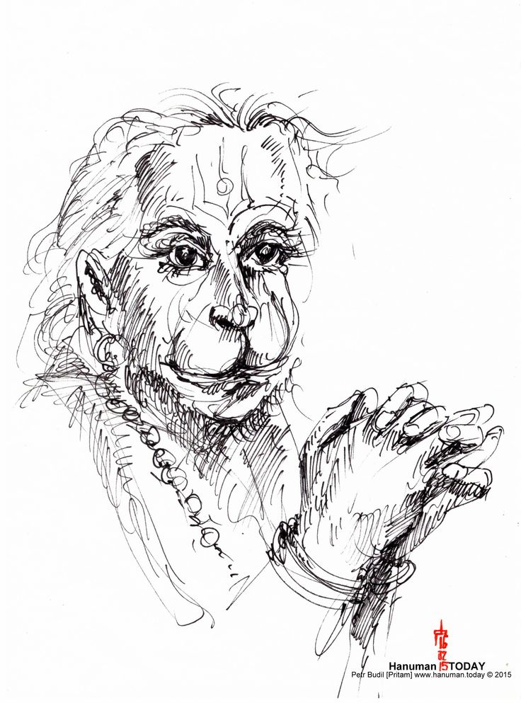 Monday, February 16, 2015 | Sketches, Hanuman, Daily drawing