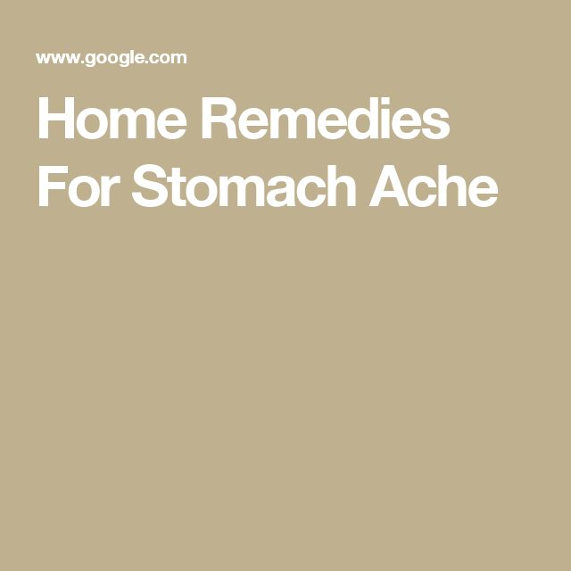Curing Stomach Aches Naturally