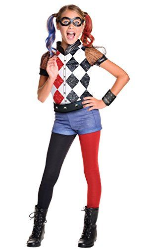 Kids' Costumes - Rubies Costume Kids DC Superhero Girls Deluxe Harley Quinn Costume Large -- You can find more details by visiting the image link.