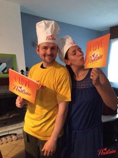 Les pancartes présentes dans le kit ont permis aux Hôtes d'affirmer leur amour pour le #ChocolatPoulain !