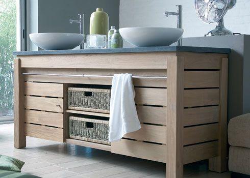 17 best images about meuble lavabo on pinterest plan de - Salle de bain avec meuble en bois ...