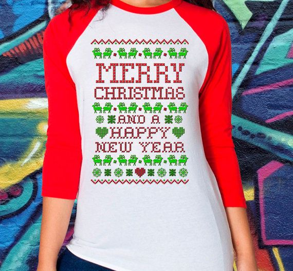 Merry Christmas Ugly Sweater New Years Ugly by kitschklothing