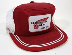 Vintage Red Wing Shoes Mesh Snapback/Trucker Hat 1970's