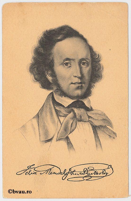 "Felix Mendelssohn-Bartholdy, Dresda. Imagine din colecțiile Bibliotecii ""V.A. Urechia"" Galați."