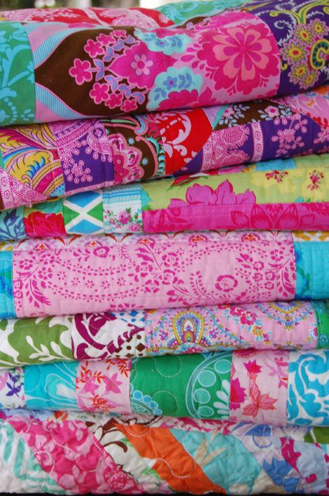 Quilts with fabric from Jennifer Paganelli of Sis Boom