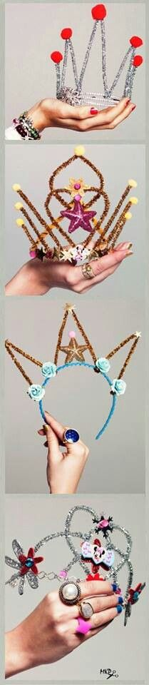 pipe cleaner tiaras!