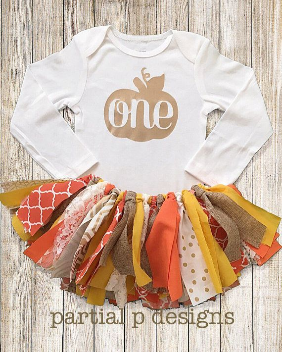 Fall Pumpkin First Birthday Outfit, autumn birthday, halloween or Thanksgiving 1st birthday, orange, lace, burlap, gold, fall outfit for pictures