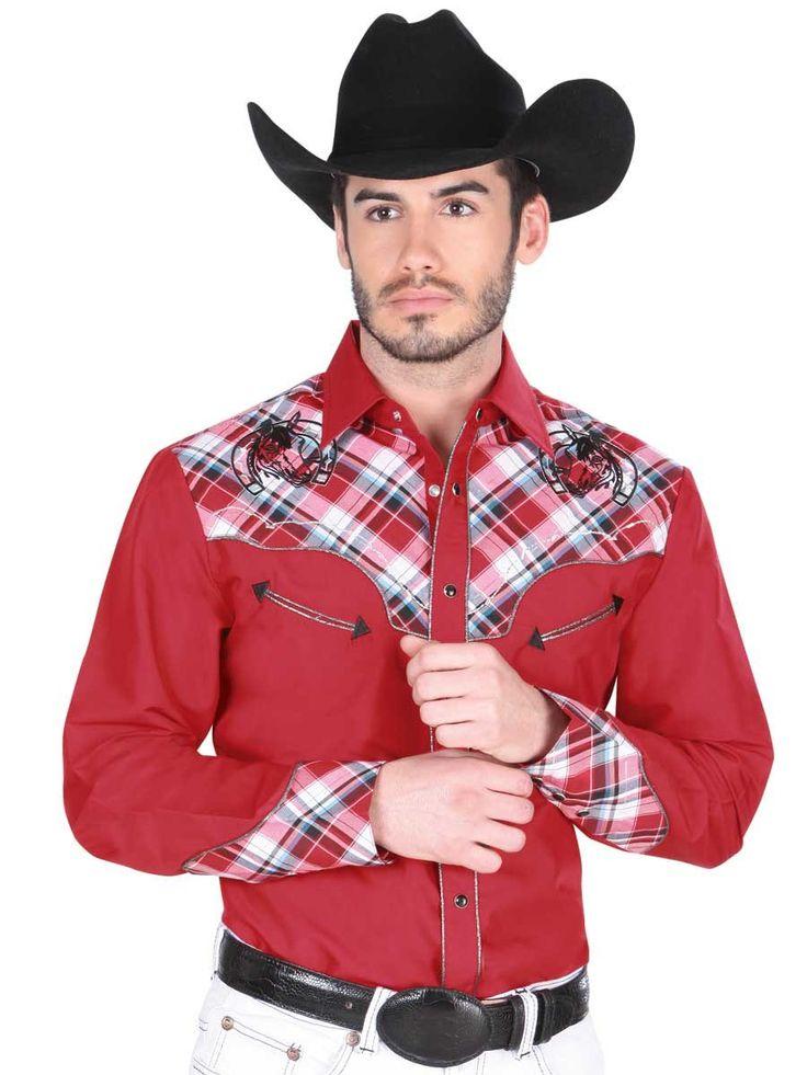 33942 Camisa Vaquera Manga Larga De Hombre 'El General', 55% Cotton 45 | Bellash