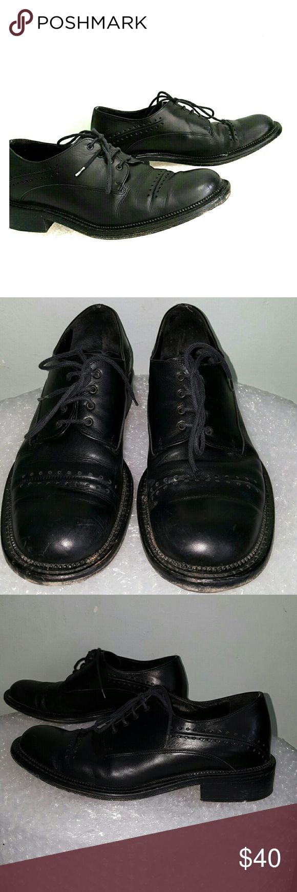 """MARE black brogue shoes 38.5 M Italy MARE only issues a limited number of each design. 1 1/4"""" heel. Leather sole. Lace up front. Brogue detail. Some scratching to the toes. Made in Italy. MARE Shoes Heels"""