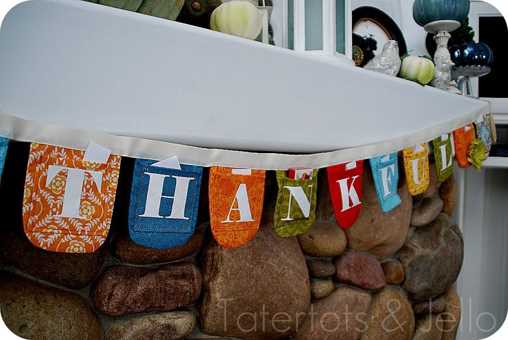 Thankfulness - bunting with pockets to help family remember to be thankful.  Ideas on this blog for family activities throughout November too.