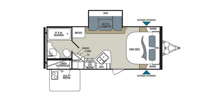 Dutchmen Aerolite 213RBSL Floorplan Details