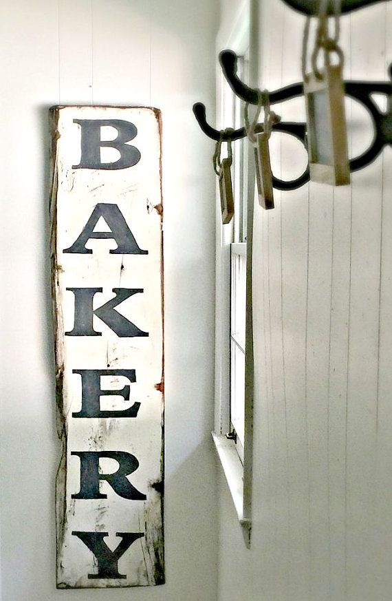 Wooden Bakery Sign Farmhouse chic sign by BethanyHooverDesigns