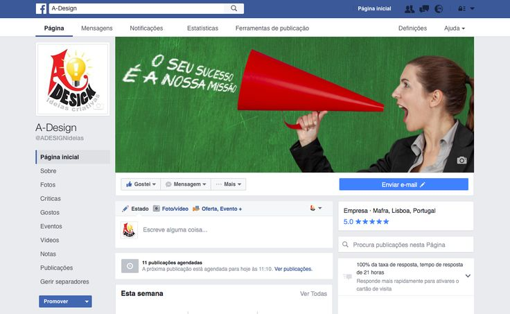 Novas Dimensões de Capa para páginas comerciais no Facebook