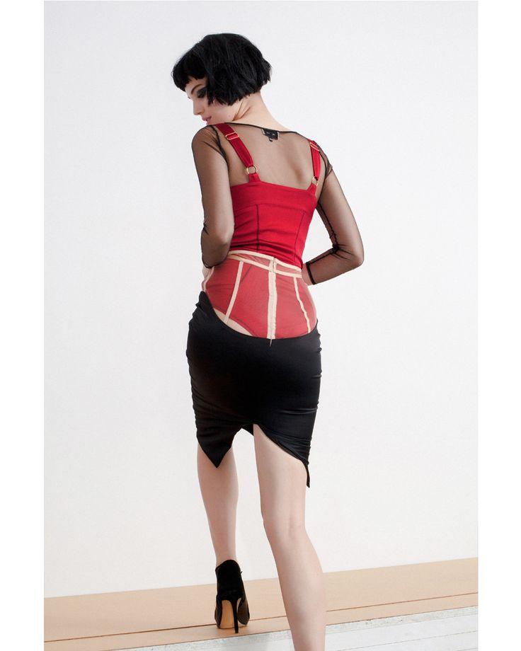 Shop the pieces: Sculpt Bodysuit http://www.murmurstore.com/product/sculpt-leotard/  Bare Blouse http://www.murmurstore.com/product/bare-blouse/  Invisible Skirt http://www.murmurstore.com/product/invisible-skirt/