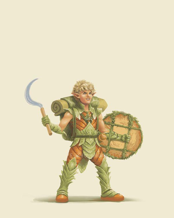 Character Design Quarterly 4 : Forest gnome druid on behance gnomes pinterest