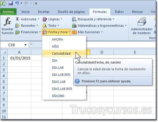 Crear categoría y descripción para funciones personalizadas UDF en Excel