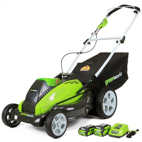 Greenworks 25223 G-Max 40V Li-Ion 19-Inch Cordless Lawn Mower W/ (1) 4Ah (1) 2Ah Batteries & Charger, 2015 Amazon Top Rated Walk-Behind Lawn Mowers #Lawn&Patio