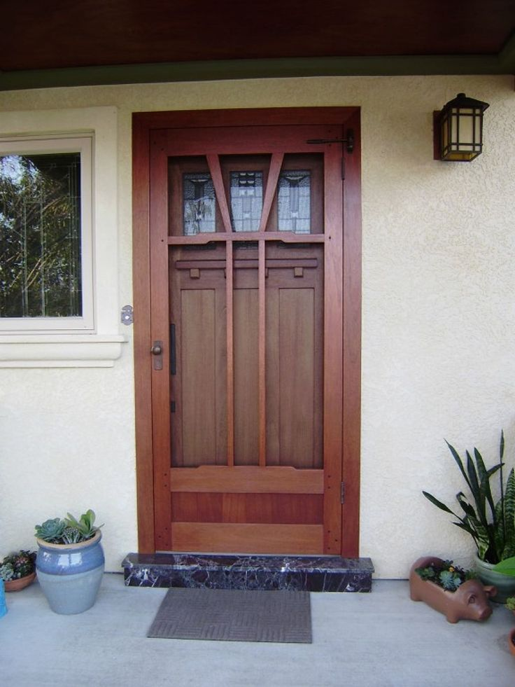 16 best porch screen doors images on pinterest wooden for Door and screen door combo