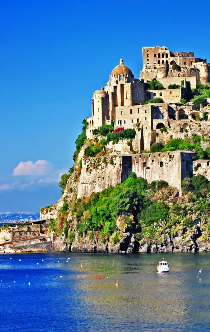 Aragonese Castle ~ is a medieval castle located in Ischia, at the northern end of the Gult of Naples, Italy