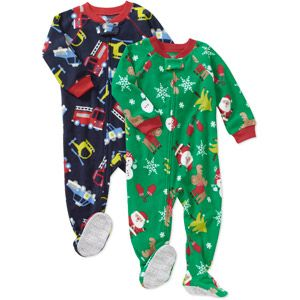 Child of Mine Carters Baby Boys' Holiday Blanket Fleece PJ, 2-Pack