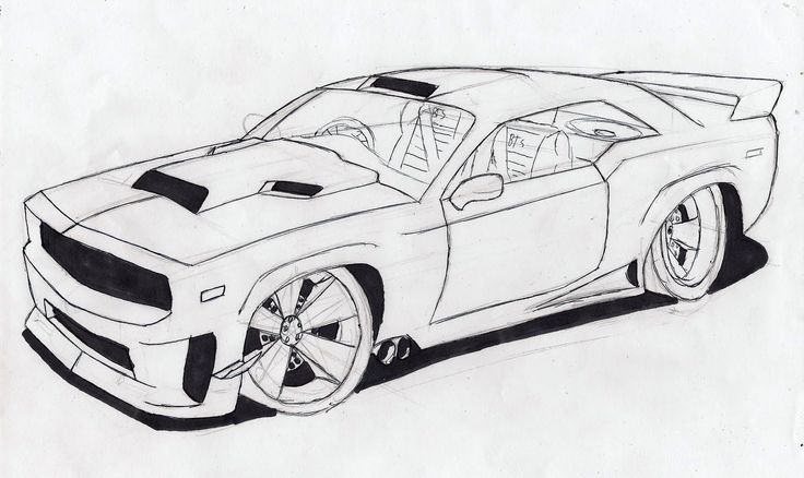 Black And White Car Drawings Cool Hd Wallpaper