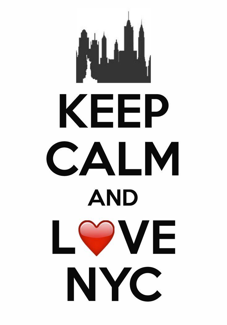 Keep calm and love NYC / created with Keep Calm and Carry On for iOS #keepcalm #iloveNY