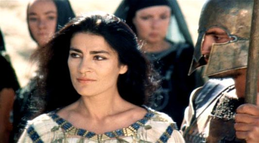 "Irene Papas in ""Trojan Women"""