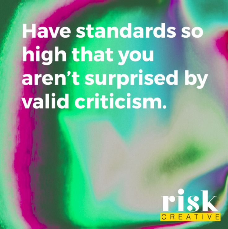 Point #1 from our Manifesto of Creative Excellence.  #riskcreative #graphicdesign #criticism
