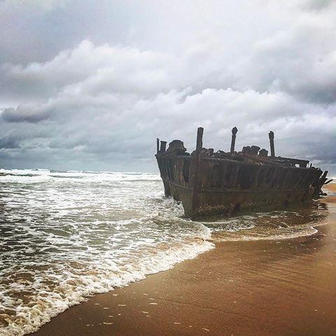 Maheno Shipwreck ⚓️ #maheno #mahenoshipwreck #fraserisland #palaceadventures #australia   10 May 2017