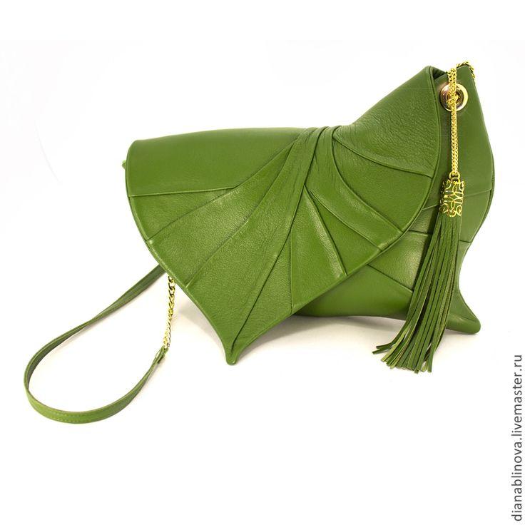 """Купить Клатч """"Лист"""" 6 - Кожаная сумка, сумка ручной работы, сумка женская"""