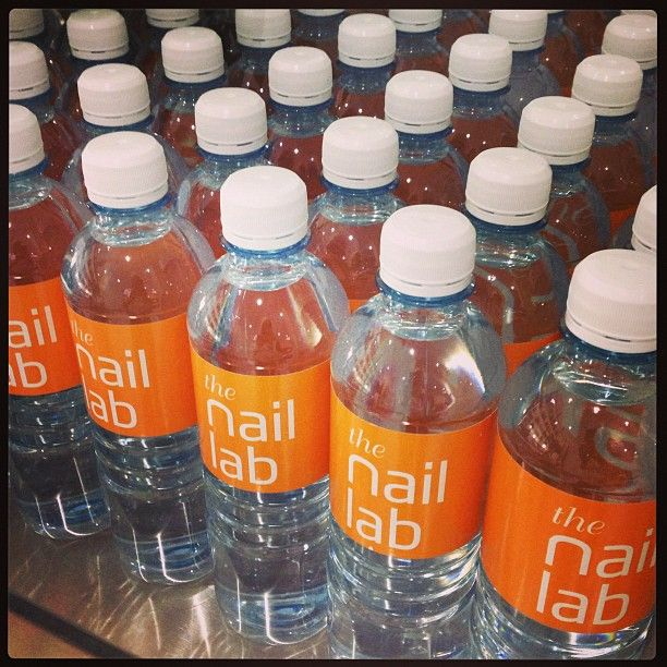 Stay hydrated while you get your nails done.