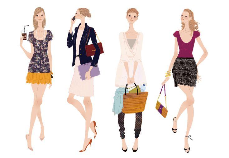 #illustration #fashionillustration #yukoyoshioka #woman
