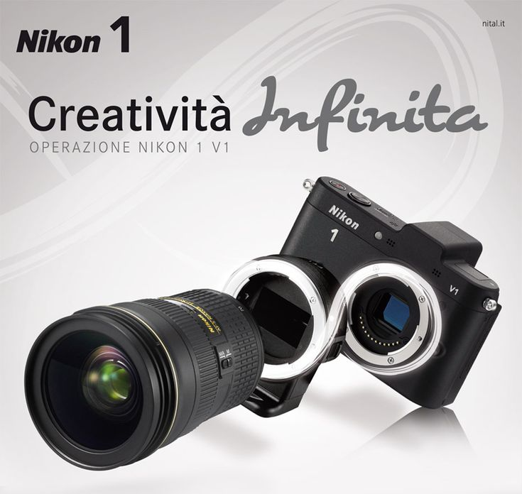 Registrando la tua nuova Nikon 1 V1 Ufficiale Italia sul sito www.nital.it riceverai gratuitamente a casa l'utilissimo adattatore a baionetta FT-1 mount.