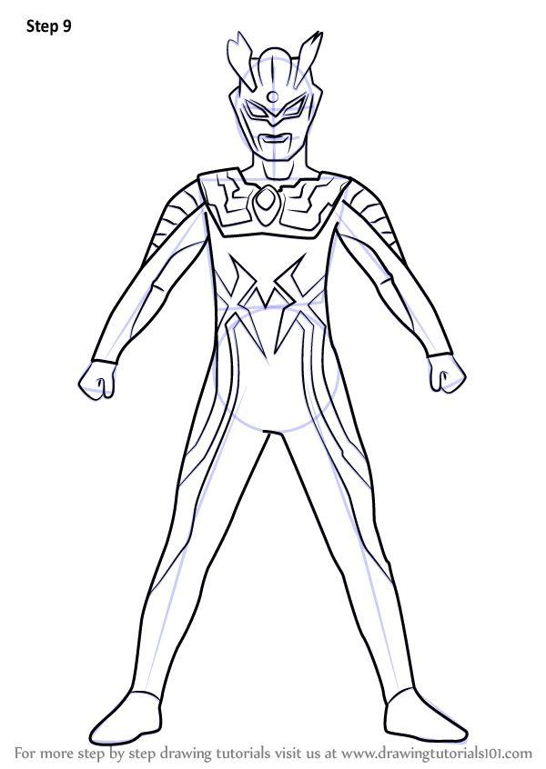 Learn How to Draw Ultraman Zero (Ultraman) Step by Step