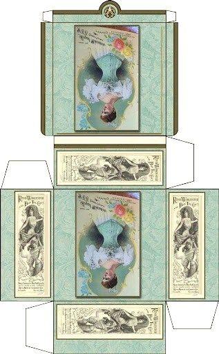Victorian lady mini printable box