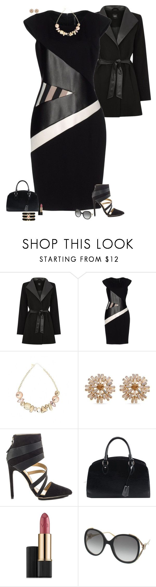 """Leather details"" by julietajj ❤ liked on Polyvore featuring Oasis, Pianurastudio, Erica Lyons, GX, Louis Vuitton, Victoria Beckham, Gucci and Roberto Cavalli"