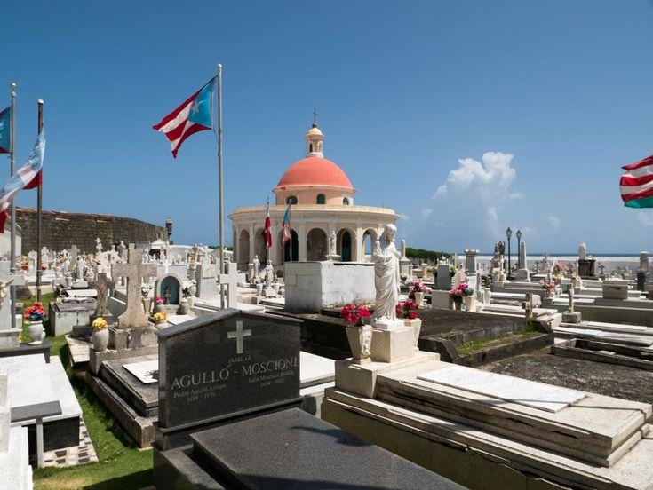 El Cementerio Santa María Magdalena de Pazzi data de la era colonial de Puerto Rico. Está localizado en el Viejo San Juan a las afueras de las murallas del Castillo San Felipe del Morro. Es morada final para los restos de muchos puertorriqueños prominentes. Estos terrenos se comenzaron a usar como cementerio en la década