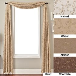 @Overstock.com - Santiago 6-yard Window Scarf - Dress up your home decor with this beautiful, flowing formal window scarf. Soft, subdued colors and an elegant design make this window scarf a great addition to any room, allowing it to blend in effortlessly without disrupting the room.     http://www.overstock.com/Home-Garden/Santiago-6-yard-Window-Scarf/4155123/product.html?CID=214117  $62.99