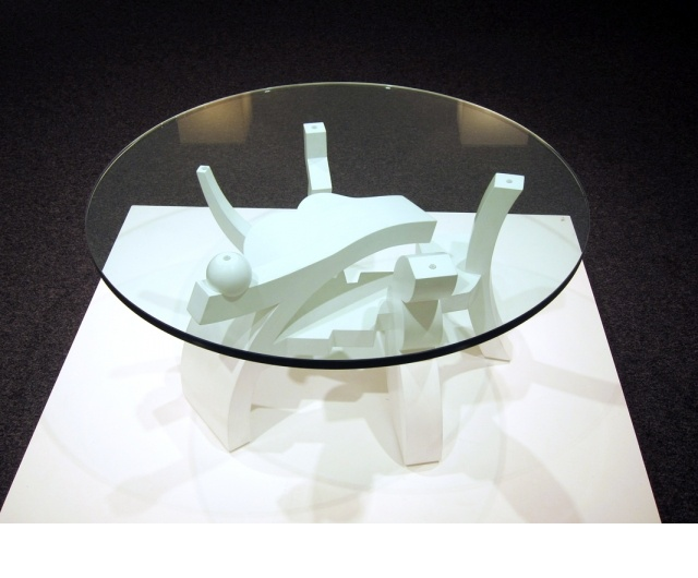 EmCoffee Table #3/em, 2011, Maple And Glass, 17x36x36u201dGary