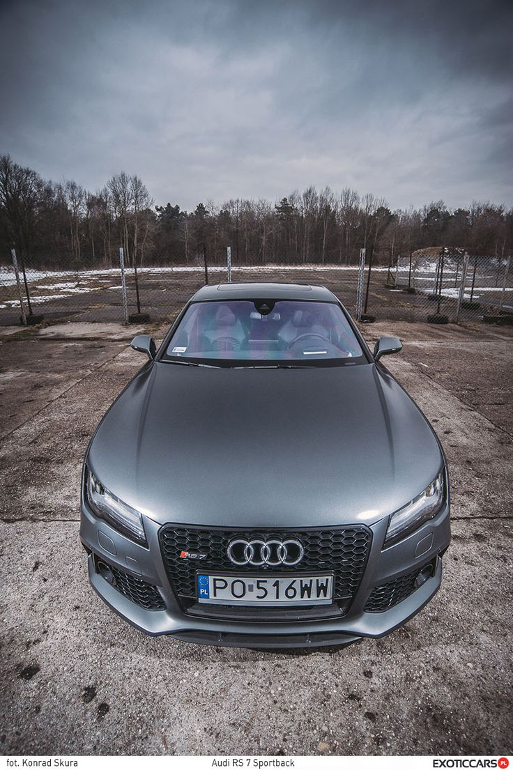One of latest RS family members - Audi RS7 http://exoticcars.pl/testy/audi-rs-7-sportback/