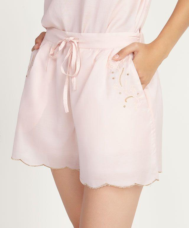 Короткие брюки с цветочным узором - OYSHO