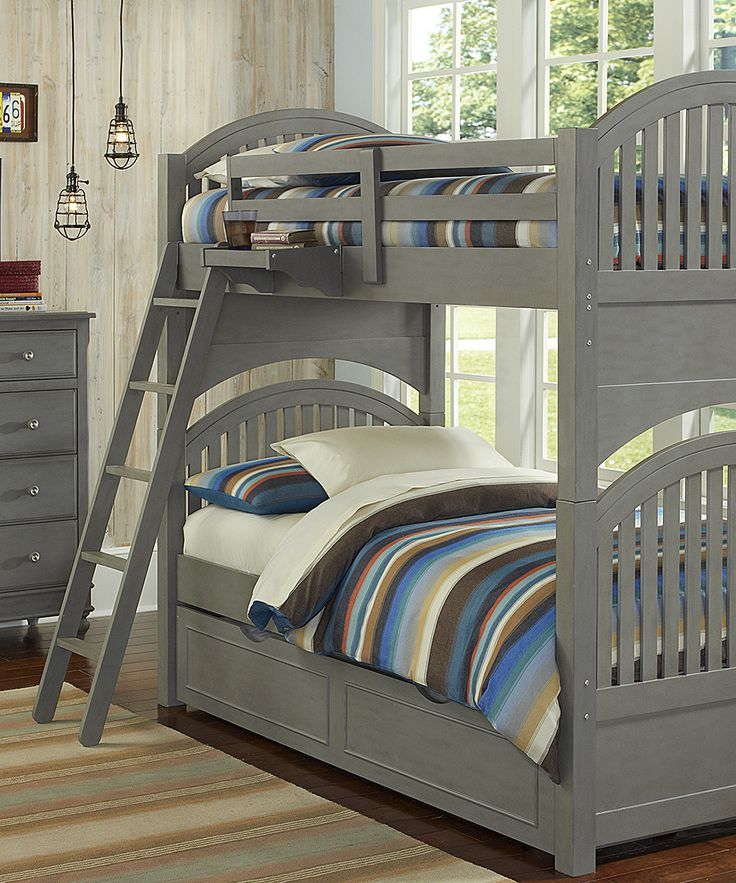 Stone Lake House Adrian Twin Over Twin Trundle Bunk Bed