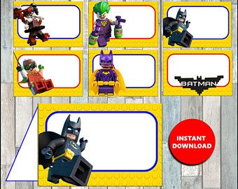 80% OFF Printable Lego Batman Food labels instant download, Lego Batman party Food tent cards, Printable Lego Batman Tent cards