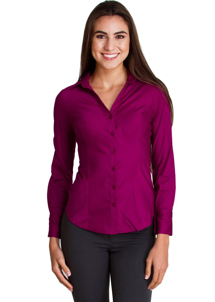 Tailored Long Sleeve Shirt T2936MG, clothing, clothes, womens clothing, jeans, tops, womens dress